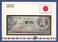 Numisbrief Notenbriefe der Welt Japan 100 Yen # BR247146H NBA5/54