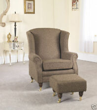 Living Room Victorian Style Solid Armchairs