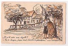 """CPA illustrateur Warnod - """"si ta mère nous dégotte ... permission"""" 1917"""