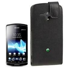 Flip Tasche Soft für Sony xperia Neo L MT25i schwarz Etui Hülle Case Schutzcase