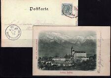 Österreich Nr. 72 auf AK - Schloss Ambras - um 1900 ( 22510-o1 )