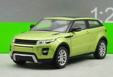 Welly 1:24 Land Rover Range Rover Evoque Diecast Metal Model SUV Car Green