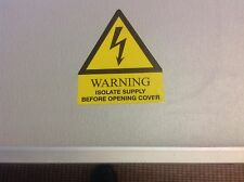 10 x 'Warning Isolate Supply' Electrical Safety Labels - Free Post!