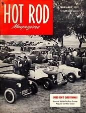HOT ROD FEB 1951,CADILLAC-WILLYS,1934 OLDS HARDTOP,SCTA,FEBRUARY HOTROD MAGAZINE