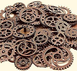 20 Assorted Metal Gears Steampunk Clock Cog Rustic Copper Mix Bulk Lot Set
