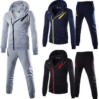 Mens Tracksuit Set Hoodie Top Bottoms Trousers Jogging Joggers Gym Sports Wear