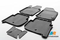 Premium passgenaue 3D-Fußmatten von RIVAL® mit Kanten für VW Tiguan MY2007-2018