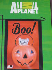 """Animal Planet Halloween Boo! Cat Decorative Garden Flag 12""""X18""""-New In Package"""