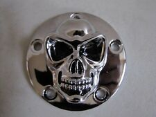 CHROME FACE SKULL CAM COVER TWIN CAM 88 -  '99 - '2010 MODELS