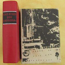 Das Echo der Aurora Minibuch Ledereinband 6x8,5x2cm Dietz Verlag 1987