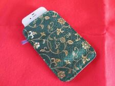 Japanese Pattern iPhone 4 / 4s / 5 Case Cover Bag Smartphone Fabric Kimono Green