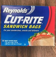 Reynolds Cut-Rite Wax Paper Sandwich Bags x 50! 1 box of 50