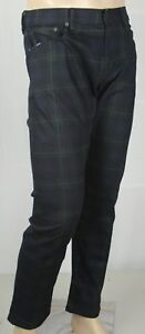 Polo Ralph Lauren Sullivan Slim Stretch Blackwatch Tartan Plaid Jeans NWT $245