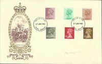 GB QE11 1982  DEFINITIVES ILLUS FDC