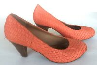 MIZ MOOZ Coral Croco Leather Women Heels Shoes Size 8.5, Model - SEELEY