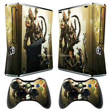 Alien Skin vinyl decal cover for xbox360 slim Console  & Gamepad Sticker Ts122