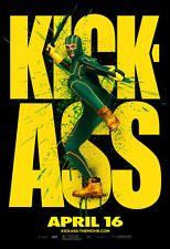 KICK-ASS Movie POSTER 27x40 M Nicolas Cage Aaron Johnson Chloe Moretz