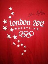 London 2012 Wrestling Olympics Shirt Red Elena Pirozhkova autographed 63kg