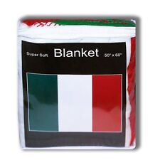"ITALY  FLAG FLEECE THROW BLANKET   50"" x 60""  - NEW LOWER PRICE FREE SHIPPING"