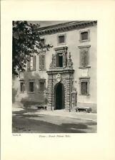 Stampa antica TIRANO Portale Palazzo Salis Valtellina Sondrio 1934 Old print
