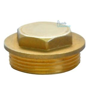 """Brass Flanged Plug Male Stop End Cap Threaded BSP 1/8"""",1/4""""/,3/8"""",1/2"""",3/4"""" ..2"""""""