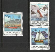 SOUTH GEORGIA 1995 SAILING SHIPS SET FINE USED