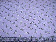 3 Yards Quilt Cotton Fabric - Timeless Treasures Bunnies Rabbits Tossed on Pink