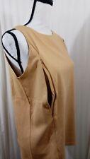 Breastfeeding Nursing Gold Tank Top Sz L Cotton Stretch Zip to Feed Technology