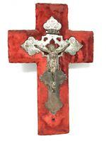 Croix Christ Crucifix 19 th Napoleon II  XIX EME Religieux Cross