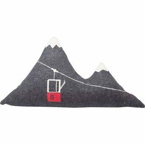 David Fussenegger gefülltes Kissen Silvretta Berg Anthrazit