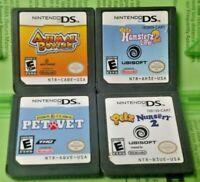 Nintendo DS Lite 2ds 3ds Game Lot Petz Hamsterz Life 2 Nersery 2 Pet Vet Boxing