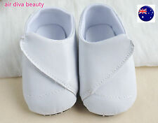Baby Shower Boys White Christening Wedding Party Synthetic leather first Shoes