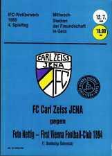 IFC 12.07.1989 FC Carl Zeiss Jena - First Vienna Wien, Edition A, InterToto Cup