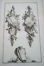EAU FORTE JEAN CHARLES DELAFOSSE-VOYSARD TREILLAGE ET DORURE-TROPHEES 1772
