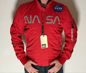 Alpha Industries NASA JAcket Neu Größe L Rot Bomberjacke 186111