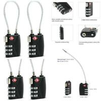 Security 3 Digit Combination Travel Luggage Bag Code Lock Padlock Resettable MA
