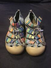 Girls Size 4 Keen Sandals Blue And Multi Colored