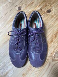 Ecco Leather Ladies Trainer Shoe Size 7 Eur 41