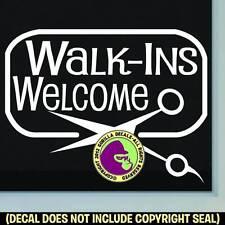 FRAMED WALK-INS WELCOME Vinyl Decal Sticker Hair Salon Spa Shop Window Door Sign