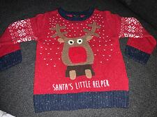 Boys Next Red Reindeer Christmas Jumper (2-3 Years)