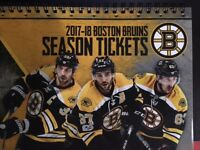 2017-18 Boston Bruins NHL Official Mint Ticket Stub - pick any game!