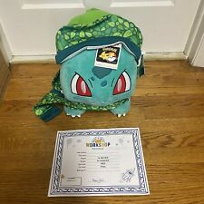 NWT Build-a-Bear  Pokémon Bulbasaur with Sound Hat Scarf In Hand Ships Fastest
