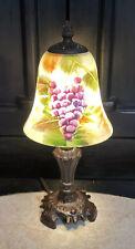 "GLYNDA TURLEY 2002 GLASS LAMP SHADE LAMP LIGHT Signed 12"""