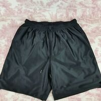 Tek Gear Reversible Athletic Basketball Shorts Size L Black Pockets Drawstring