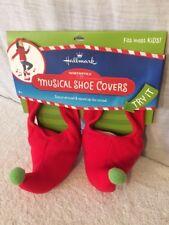 Hallmark Northpole Elf Musical Dance Around Music & Sound Shoe Covers New! Kids