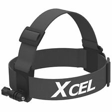 Xcel Action Camera Head Strap Mount / Hands Free Recording / Black XHD-HSM