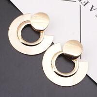 Fashion Women Earrings Statement Geometric Circle Metal Earrings Dangle Ear Stud