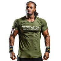 Mens Summer Gyms Casual T Shirt Fitness Bodybuilding Muscle Male Short Sleeve