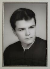Studio Photograph Handsome Young Man Graduation Portrait in Cardboard Frame