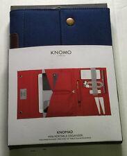 Knomo London Balham Knomad Mini Portable Organizer (Blue) Wallet (57-063-BLU)